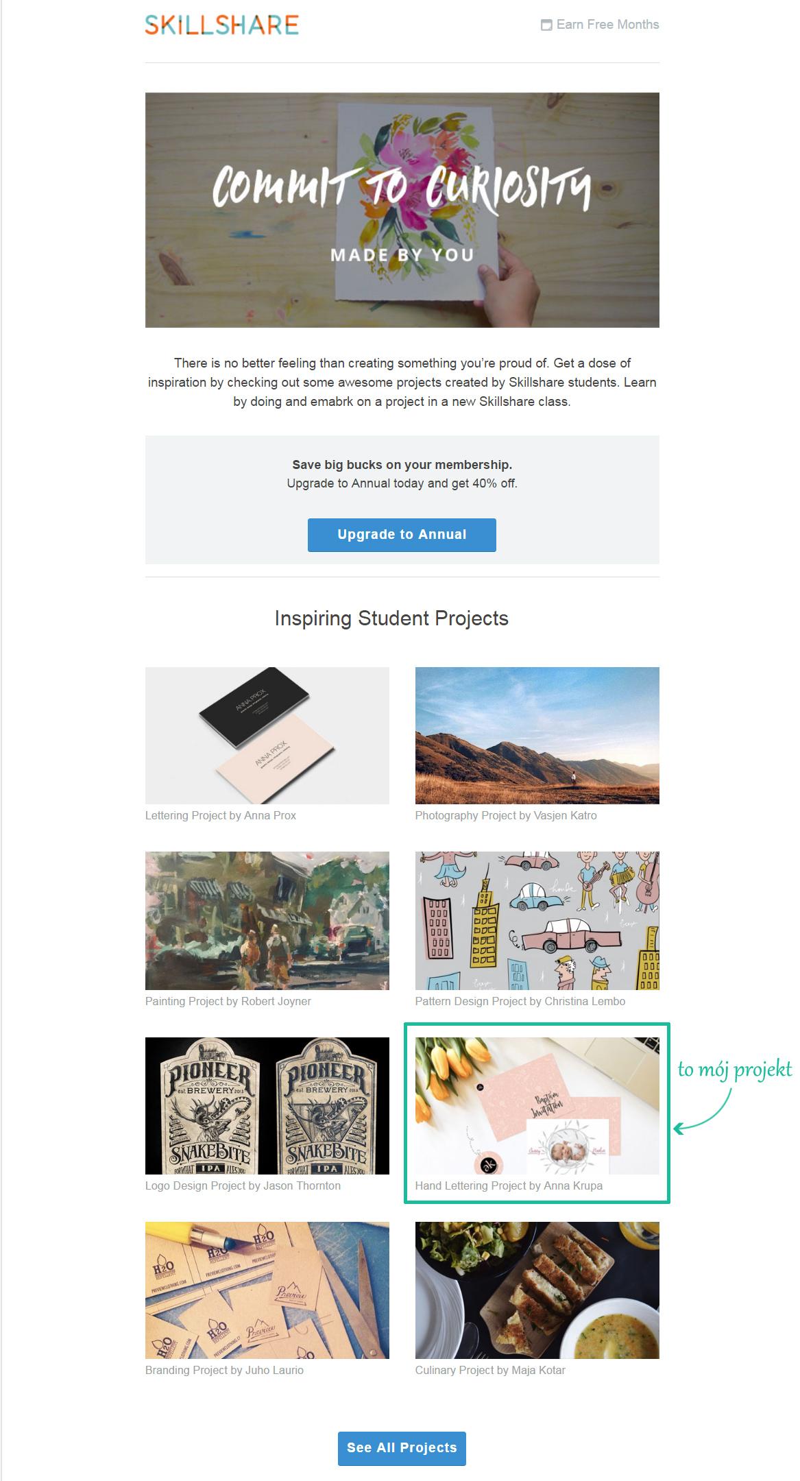 Inspiring Students Project at Skillshare (January 2017)