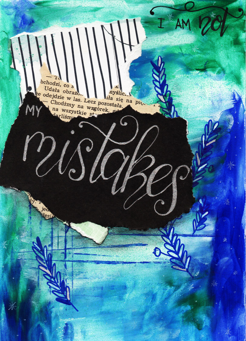 Art journalowy tutorial #1 – I'm not my mistakes