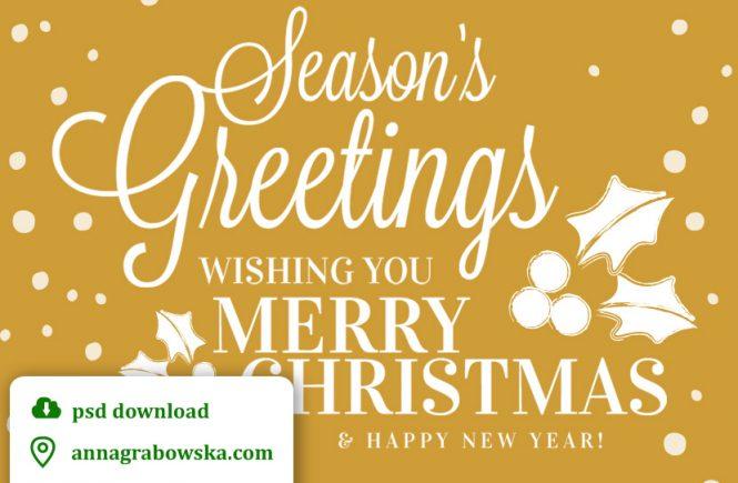 Kartki świąteczne - psd do pobrania