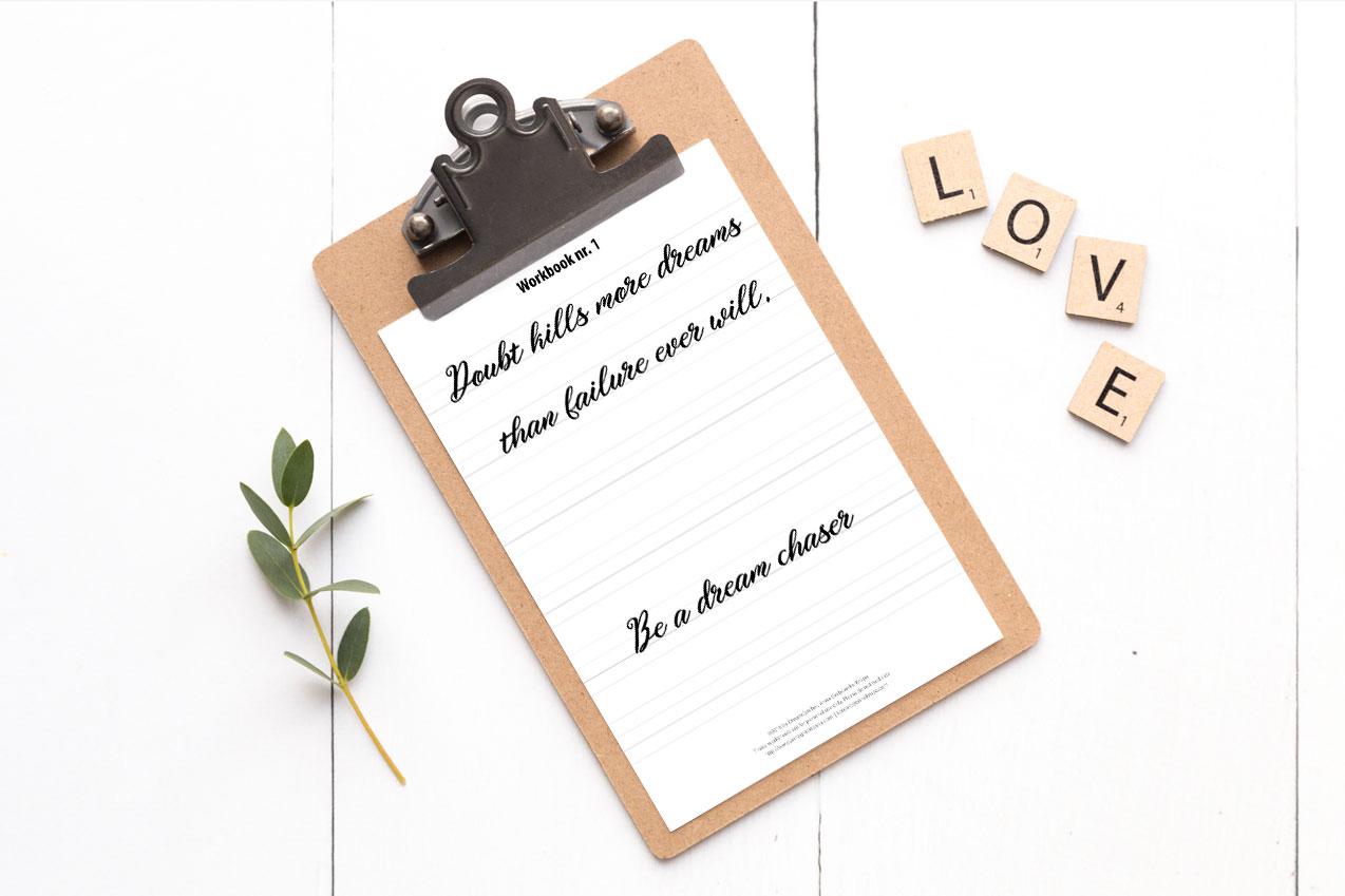 Hand lettering – jak ustawić sobie cele na nowy rok, by rozwinąć swoje zdolności
