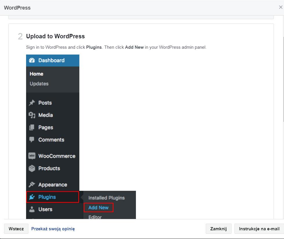 Piksel facebooka - krok 6