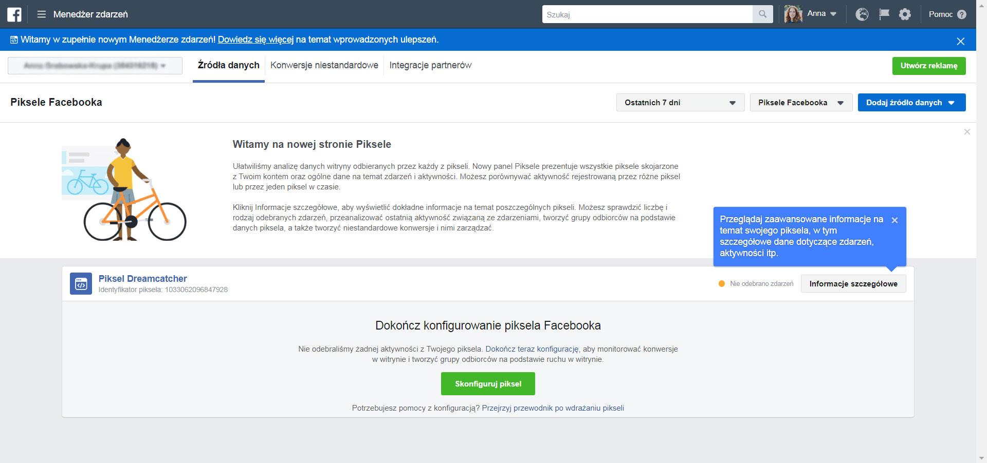 Piksel facebooka - krok 9