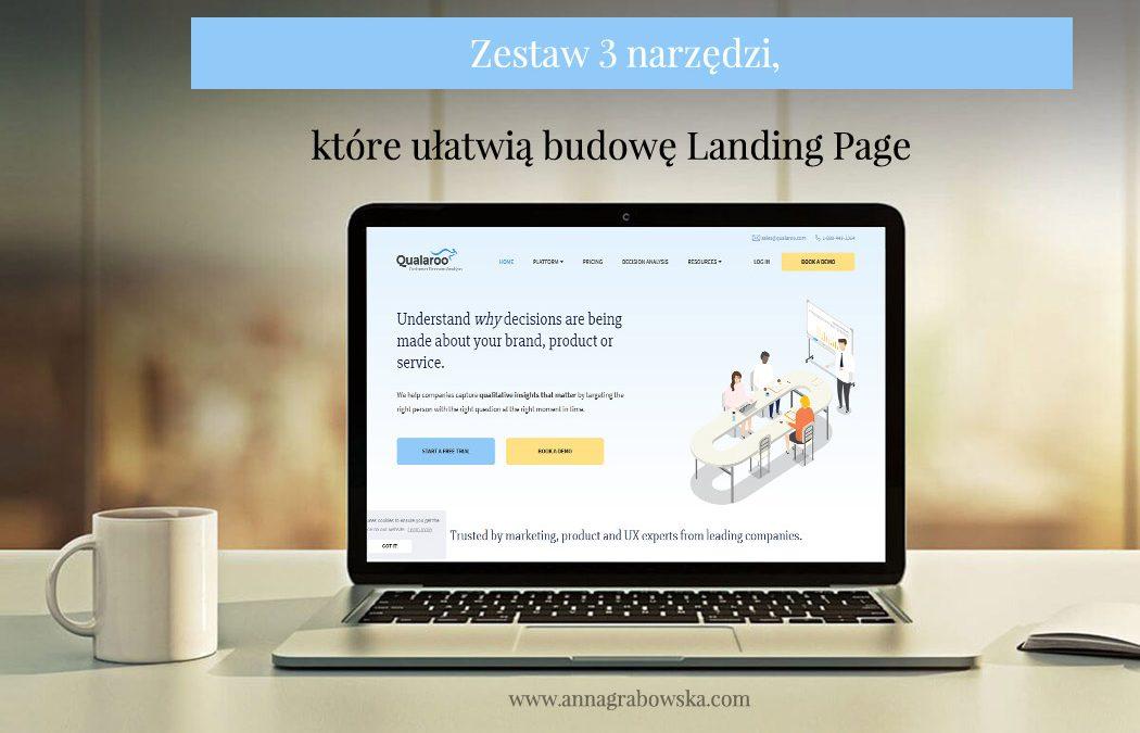 Zestaw 3 narzędzi, które ułatwią budowę Landing Page