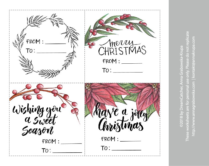 Świąteczne etykiety - całość