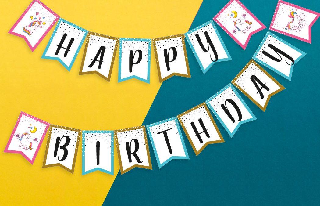 Girlanda urodzinowa [do pobrania]