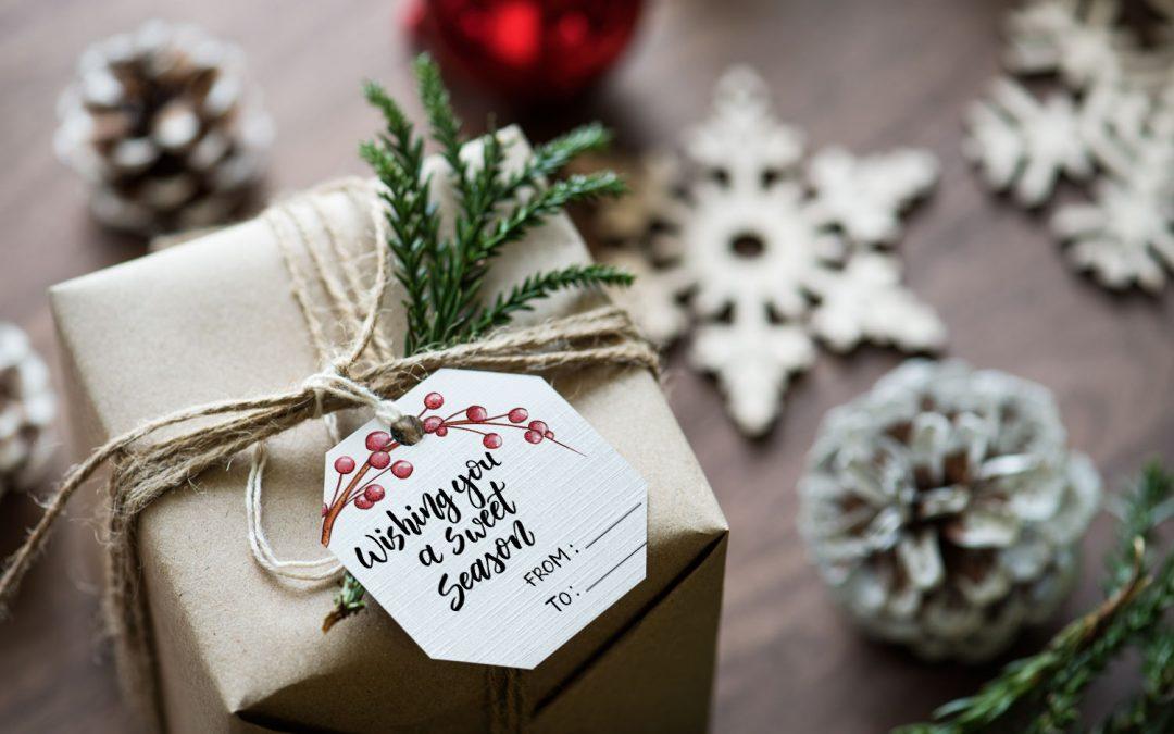 Świąteczne etykiety na prezenty i karty Project Life do druku.