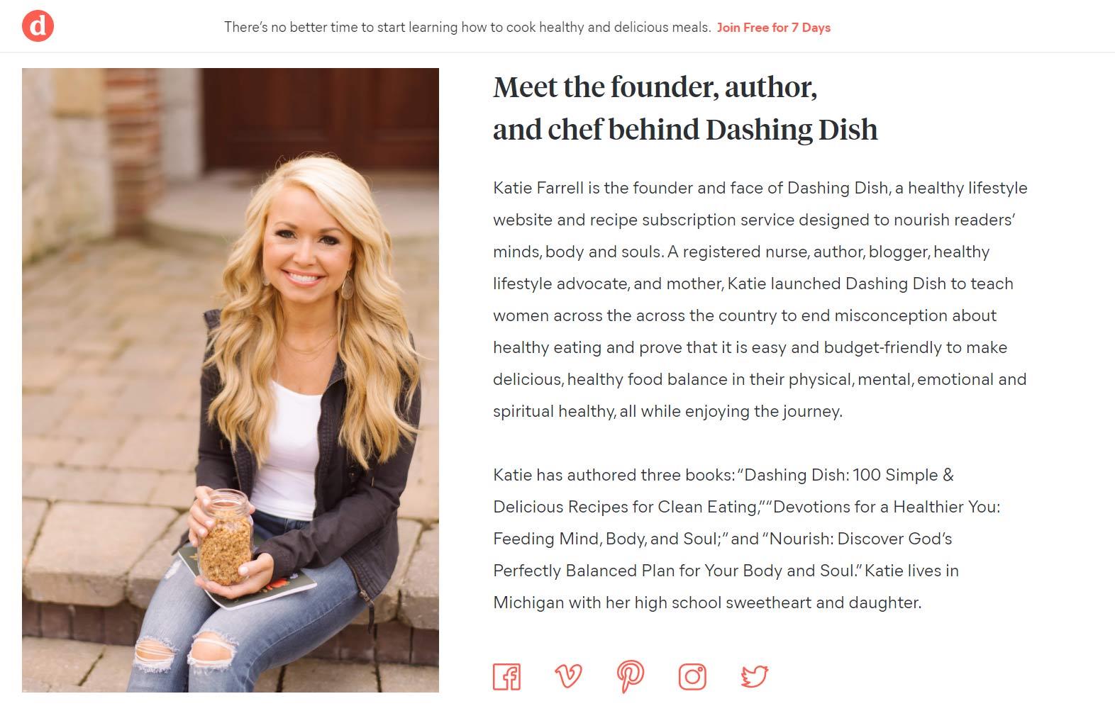 Dashing Dish strona O mnie