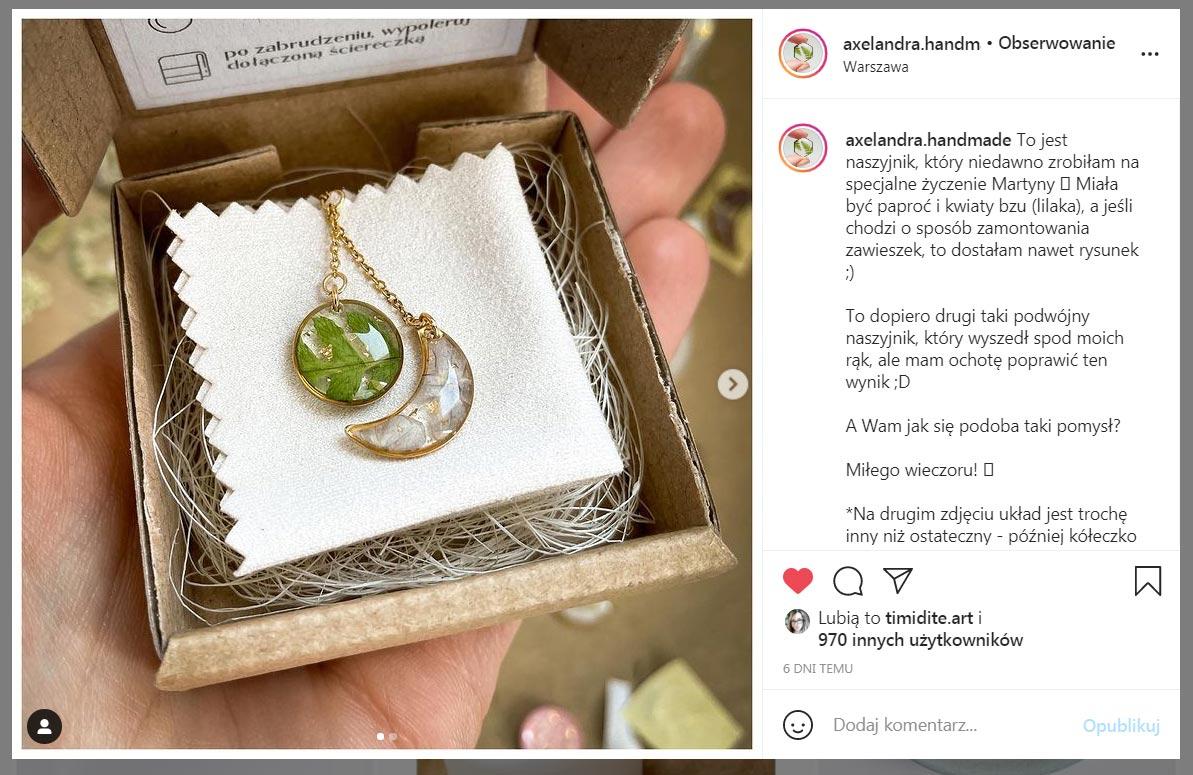 Ola Serwin - biżuteria z żywicy